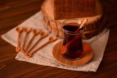 Bambum Lami 6'li Çay Kasigi Renkli